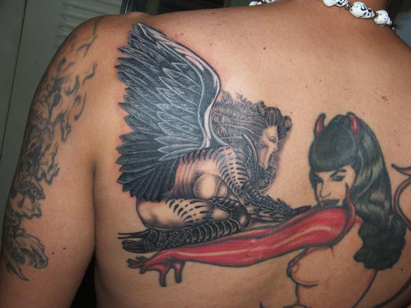 Screaming Angel coverup by Sherley