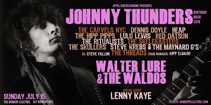 Johnny Thunders Birthday Bash